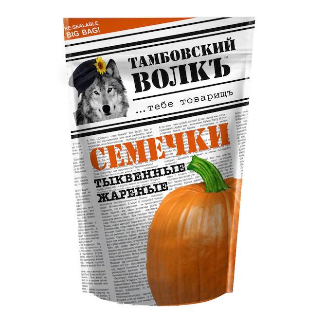 Семечки «Тамбовский волкъ» тыквенные 200 г.