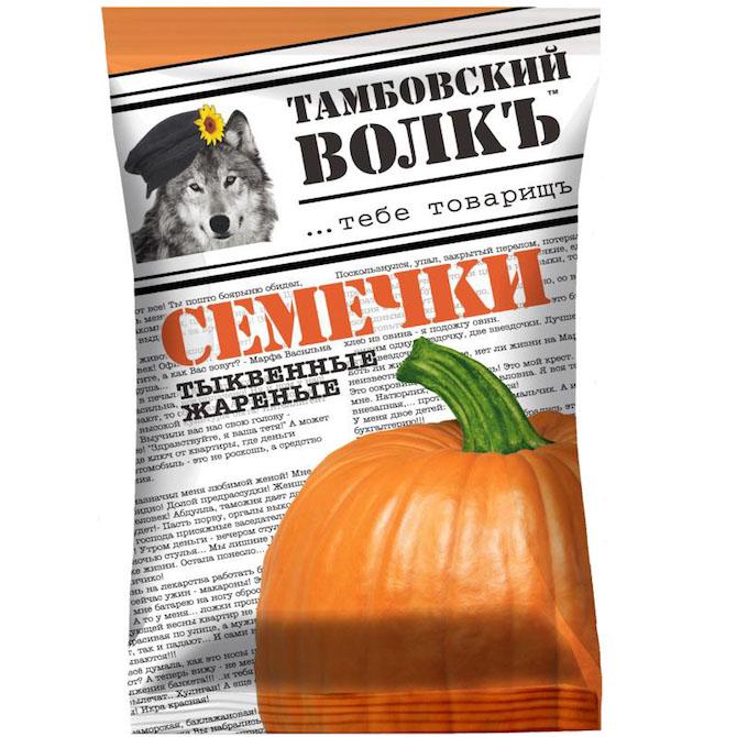 Семечки «Тамбовский волкъ» тыквенные 90 г.