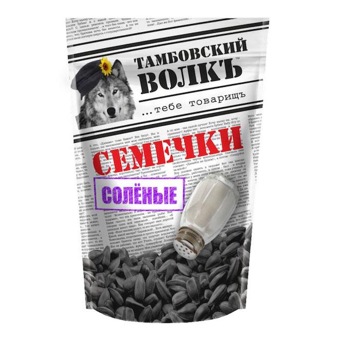 Семечки «Тамбовский волкъ с солью» 200 г.