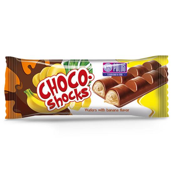 Вафли Choco-Shocks со вкусом банана